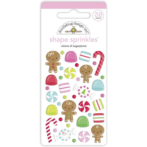 Doodlebug Design Night Before Christmas - Visions of Sugarplums Shape Sprinkles