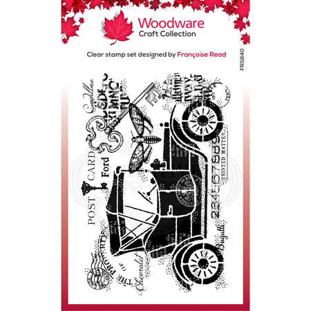 Woodware Clear Magic Singles Stamp - Vintage Car