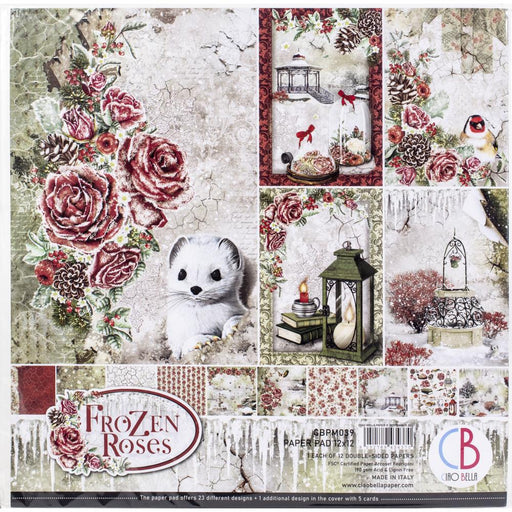 Ciao Bella Frozen Rose - 12x12 Paper Pack 12/Pkg