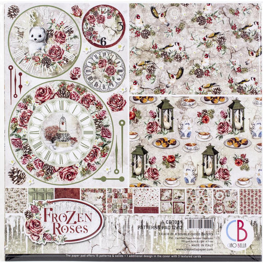 Ciao Bella Frozen Rose - 12x12 Paper Pack 8/Pkg