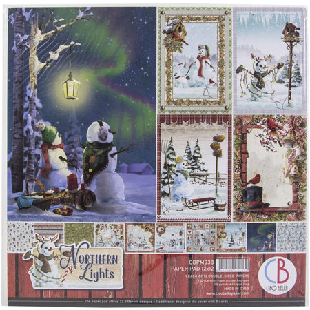 Ciao Bella Northern Lights - 12x12 Paper Pack 12/Pkg