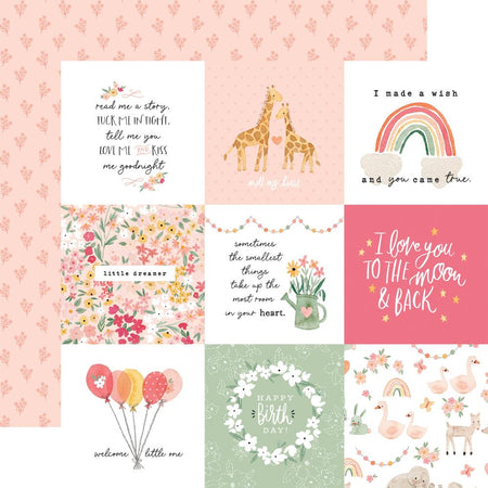 Echo Park Welcome Baby Girl - 4x4 Journaling Cards