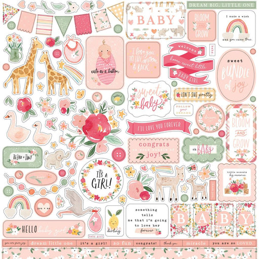 Echo Park Welcome Baby Girl - Element Stickers