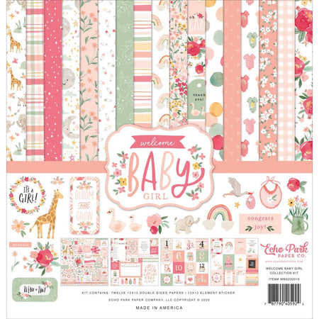 Echo Park Welcome Baby Girl - Collection Kit