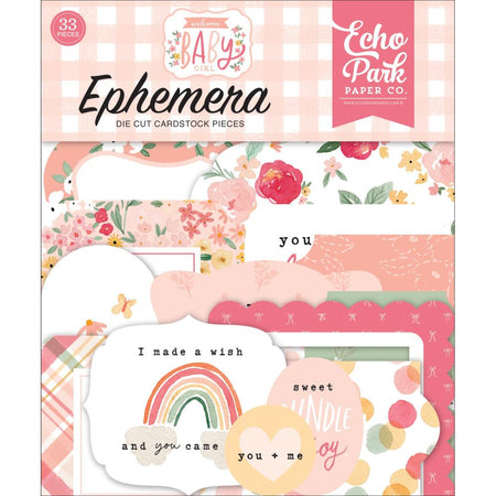 Echo Park Welcome Baby Girl - Ephemera Icons