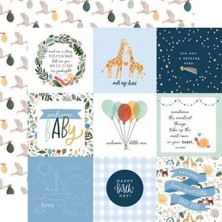 Echo Park Welcome Baby Boy - 4x4 Journaling Cards