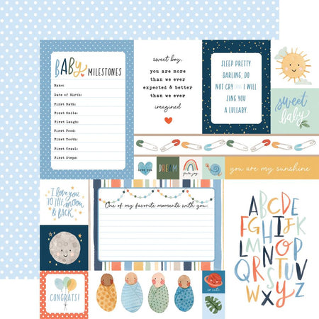 Echo Park Welcome Baby Boy - Multi Journaling Cards