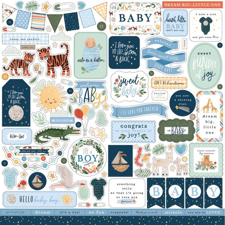 Echo Park Welcome Baby Boy - Element Stickers
