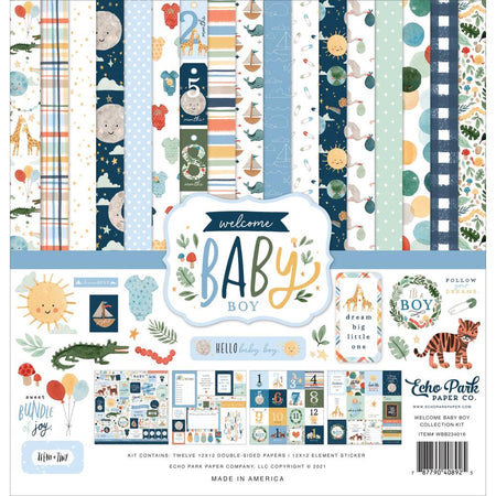 Echo Park Welcome Baby Boy - Collection Kit