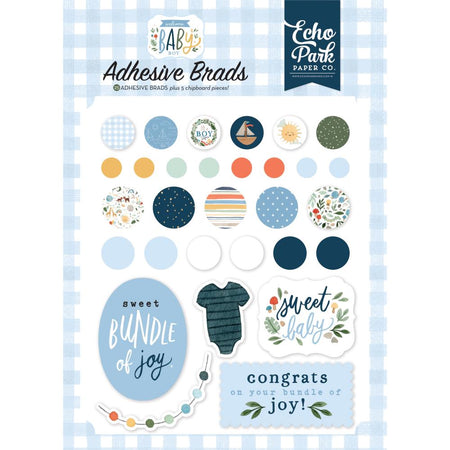 Echo Park Welcome Baby Boy - Decorative Brads