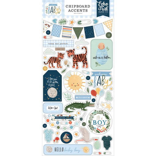 Echo Park Welcome Baby Boy - Chipboard Accents