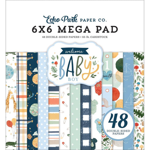 Echo Park Welcome Baby Boy - Mega 6x6 Pad