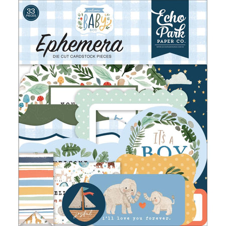 Echo Park Welcome Baby Boy - Ephemera Icons