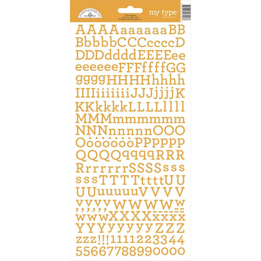 Doodlebug My Type Alphabet Stickers - Tangerine
