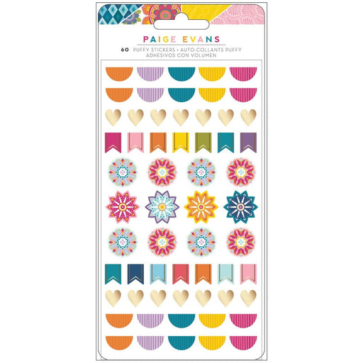 American Crafts Paige Evans Wonders - Puffy Stickers
