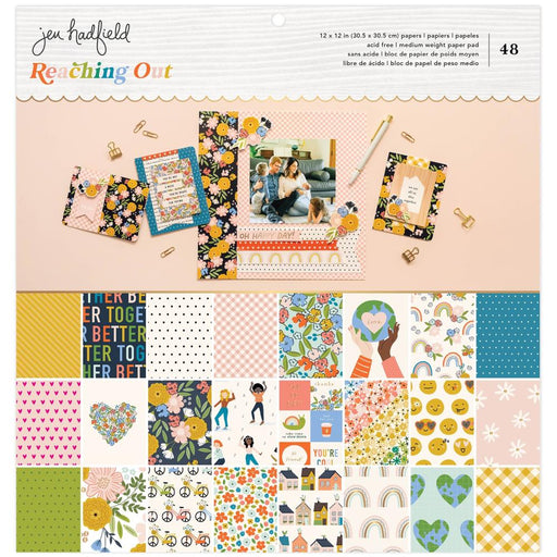 American Crafts Jen Hadfield Reaching Out - 12x12 Pad