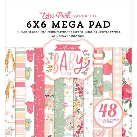 Echo Park Welcome Baby Girl - Mega 6x6 Pad