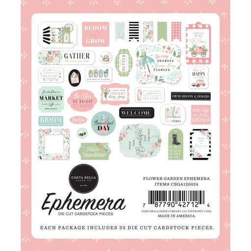 Carta Bella Flower Garden - Ephemera Icons