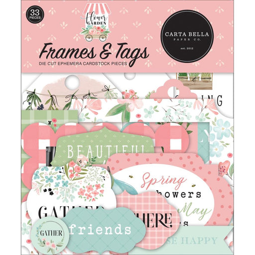 Carta Bella Flower Garden - Ephemera Frames & Tags