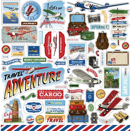 Carta Bella Our Travel Adventure - Element Stickers