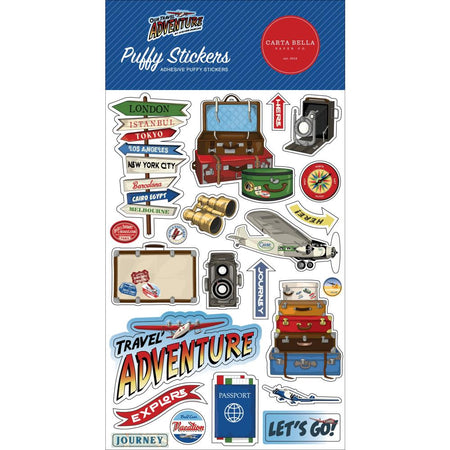 Carta Bella Our Travel Adventure - Puffy Stickers