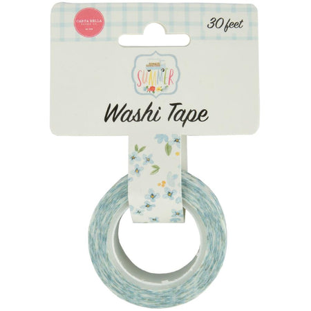 Carta Bella Summer - Blue Blooms Washi Tape