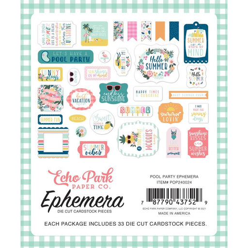 Echo Park Pool Party - Ephemera Icons