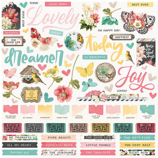 Simple Stories Simple Vintage Cottage Fields - Combo Stickers