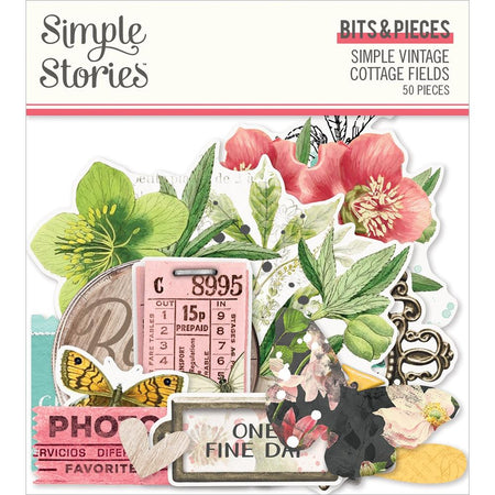 Simple Stories Simple Vintage Cottage Fields - Bits and Pieces
