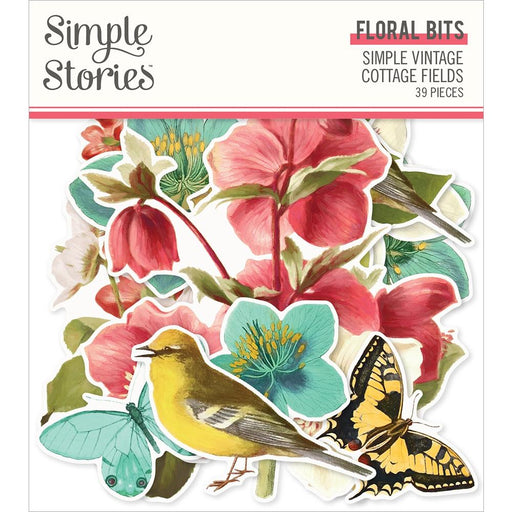 Simple Stories Simple Vintage Cottage Fields - Floral Bits