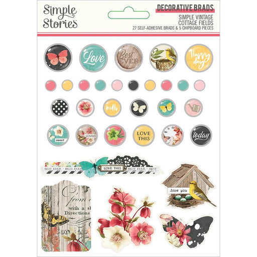 Simple Stories Simple Vintage Cottage Fields - Decorative Brads
