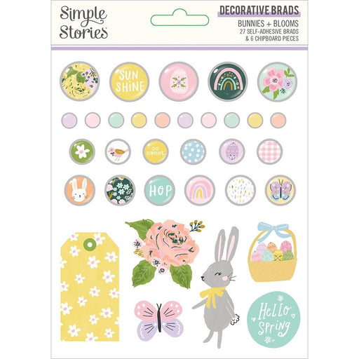 Simple Stories Bunnies & Blooms - Decorative Brads