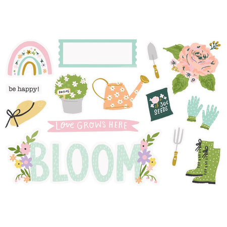 Simple Stories Bunnies & Blooms - Page Pieces