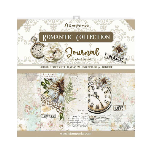 Stamperia Romantic Journal - 12x12 Paper Pack