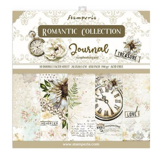 Stamperia Romantic Journal - 8x8 Paper Pack