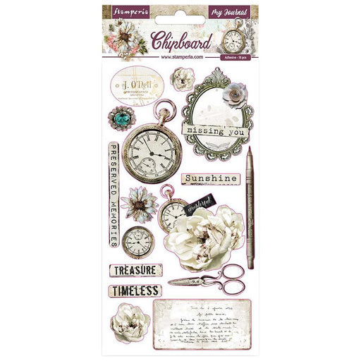 Stamperia Romantic Journal - Chipboard