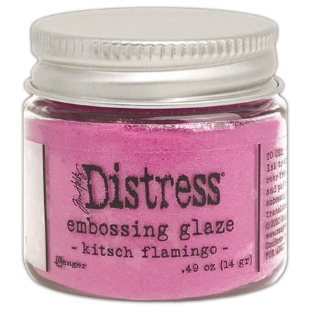 Ranger Distress Embossing Glaze - Kitsch Flamingo