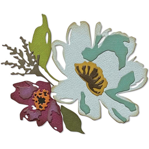 Sizzix Tim Holtz Alterations Thinlits Die - Brushstroke Flowers #3