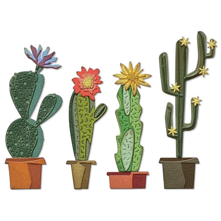 Sizzix Tim Holtz Alterations Thinlits Die - Funky Cactus