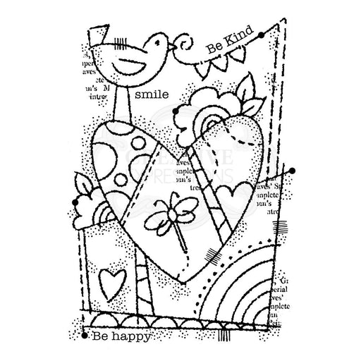 Woodware Clear Magic Singles Stamp - Rainbow Heart