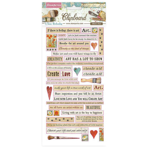 Stamperia Atelier Des Arts - Chipboard Quotes