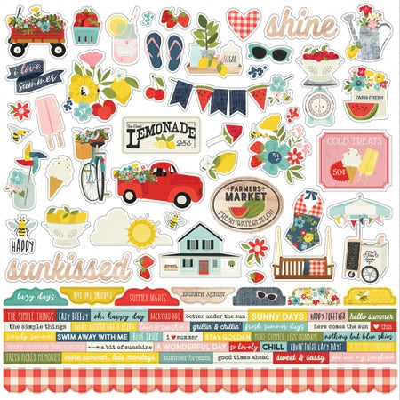 Simple Stories Summer Farmhouse - Combo Stickers