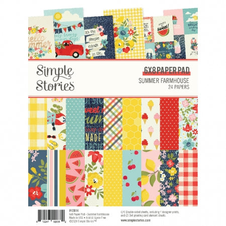 Simple Stories Summer Farmhouse - 6x8 Paper Pad