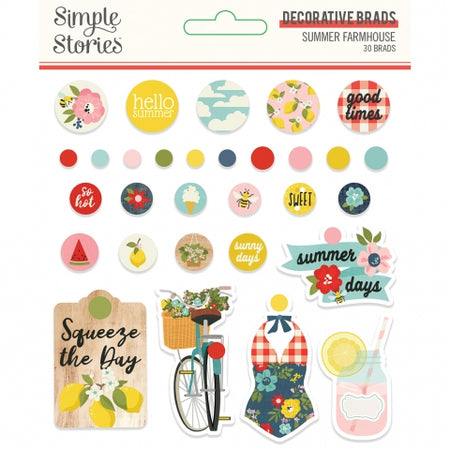 Simple Stories Summer Farmhouse - Decorative Brads
