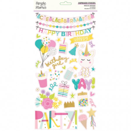 Simple Stories Magical Birthday - Chipboard Stickers