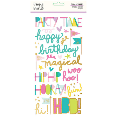 Simple Stories Magical Birthday - Foam Stickers