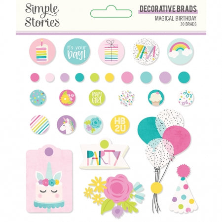 Simple Stories Magical Birthday - Decorative Brads