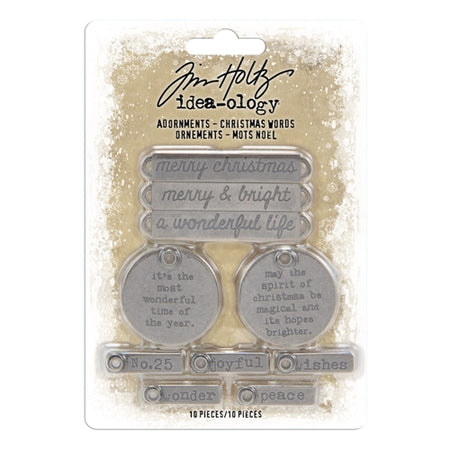 Tim Holtz Idea-ology - Adornments Christmas Words