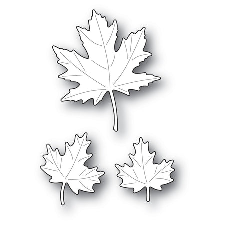 Poppystamps Die - Maple Trio