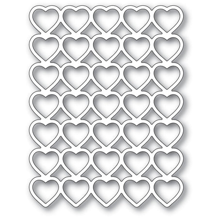 Poppystamps Die - Banded Hearts